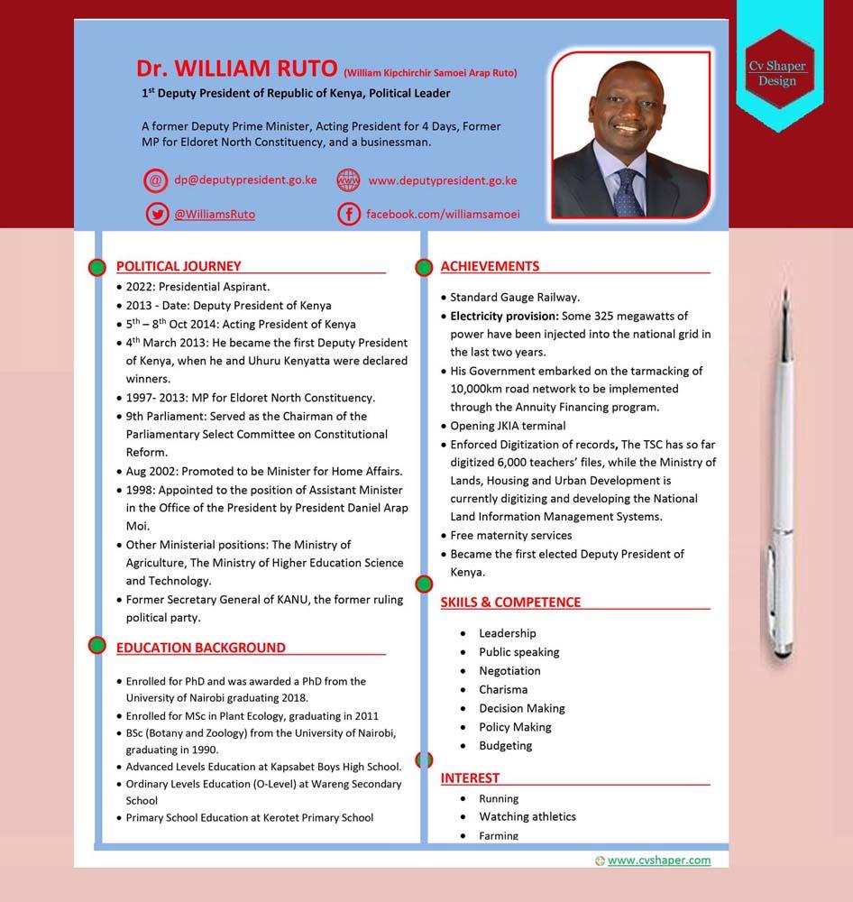 William Ruto Resume
